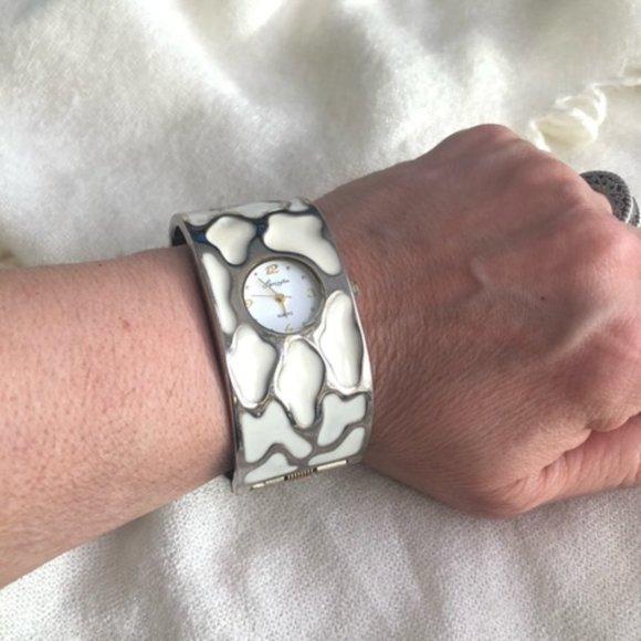 1990s Lexington Hinged Cuff Watch Bracelet